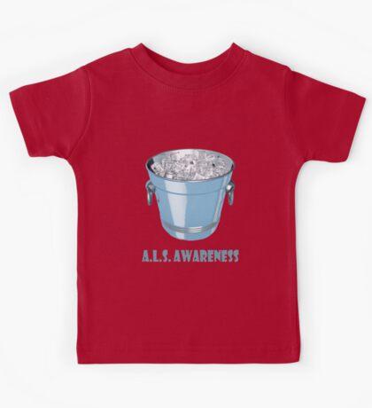 Ice bucket challenge A.L.S. Awareness Kids Tee