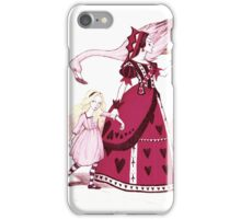 Alice and the Queen of Hearts iPhone Case/Skin