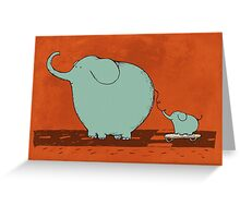 Little Skateboard Elephant Greeting Card