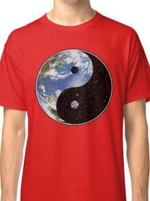 Earth / Space Yin Yang Symbol Classic T-Shirt