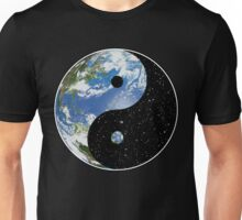 Earth and Space Yin Yang Symbol Unisex T-Shirt