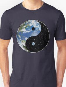 Earth / Space Yin Yang Symbol Unisex T-Shirt