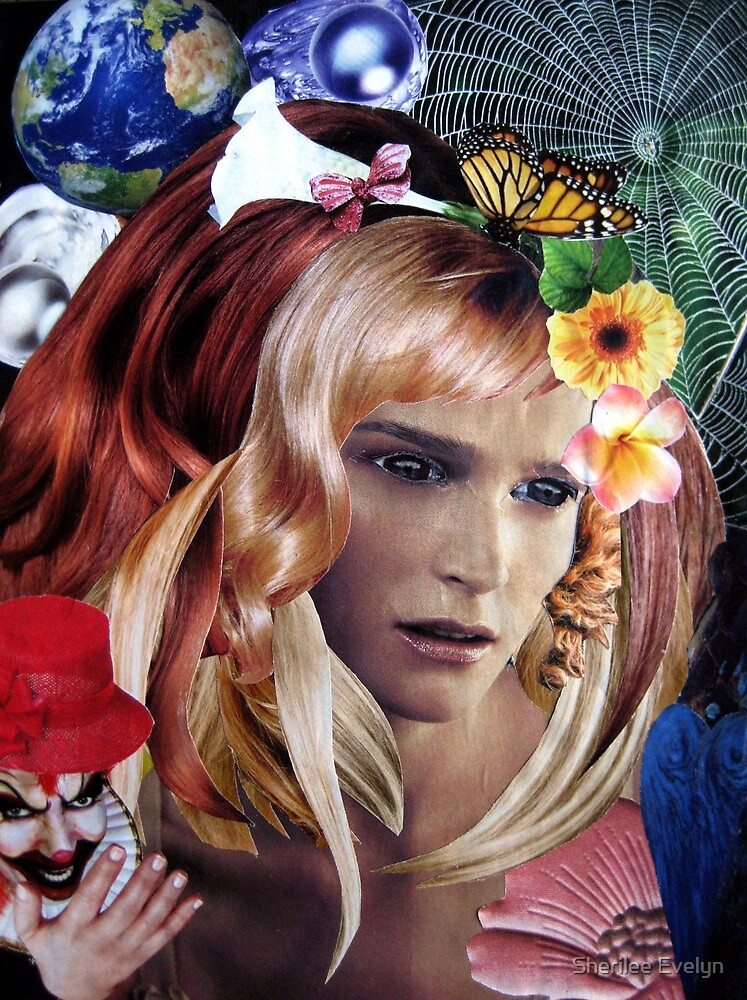 Hauntingly Beautiful - Collage. by Sherilee Evelyn