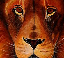 Unique painted lion Sticker