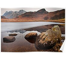 Blea Tarn on a cold winters day Poster