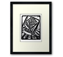 The Designer Designing Framed Print