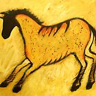 Yellow Horse Cave Painting by carolsuzanne