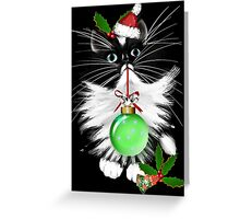 A Tuxedo Merry Christmas Greeting Card
