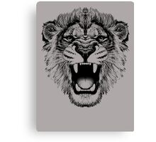 roaring lion t-shirt on lite Canvas Print