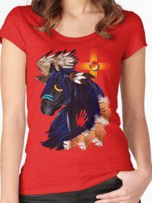 Black Stallion of Morning Women's Fitted Scoop T-Shirt