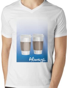ALWAYS - a Castle celebration (with coffee) Mens V-Neck T-Shirt