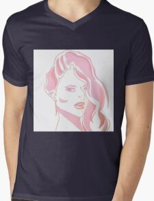 glance-pink Mens V-Neck T-Shirt