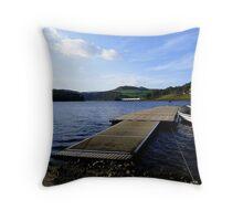 Lady Bower Dam, Resevoir, Sheffield, Yorkshire Throw Pillow