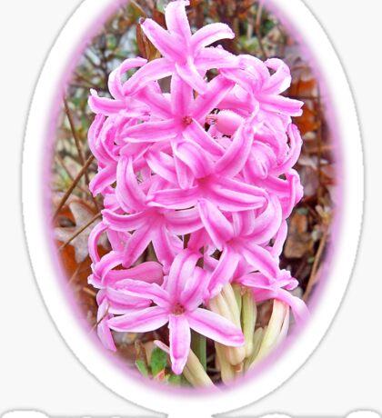 Happy Easter Pink Hyacinth Light Shirts Sticker