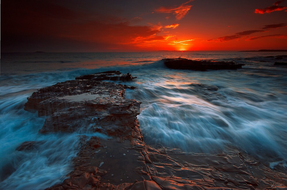 Rushing Red Dawn by fischstarr