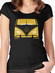 VW Kombi Yellow Design Women's Fitted Scoop T-Shirt