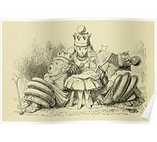 Through the Looking Glass Lewis Carroll art John Tenniel 1872 0218 What am I to do Poster