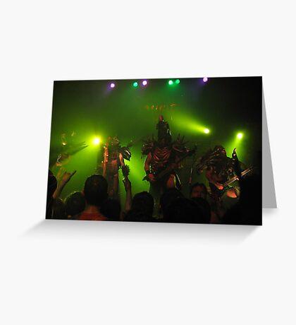 GWAR onstage Greeting Card