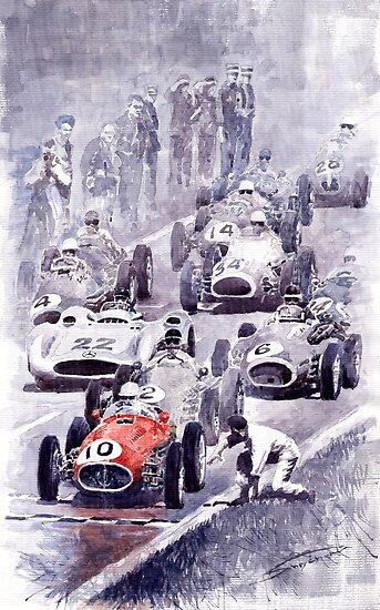 Last Control Maserati 250 F France GP 1954 by Yuriy Shevchuk