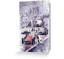 Last Control Maserati 250 F France GP 1954 Greeting Card