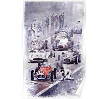 Last Control Maserati 250 F France GP 1954 Poster
