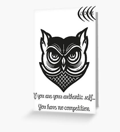Bigger Owl Greeting Card