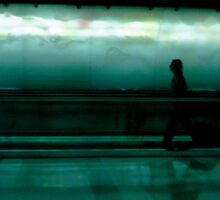 At the Airport by Aaron  Schilling