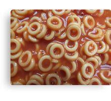 Hoops, Hoops, Glorious Hoops - Spaghetti Hoops Canvas Print