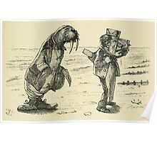 Through the Looking Glass Lewis Carroll art John Tenniel 1872 0093 The Walrus and the Carpenter Poster