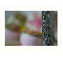 Silver Filigree Framing Sweet Temptations Art Print
