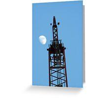 Crane and Moon Greeting Card