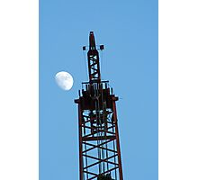 Crane and Moon Photographic Print