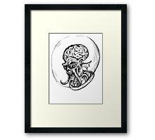 Evil Martian Framed Print