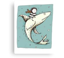 Fish Boy  Canvas Print