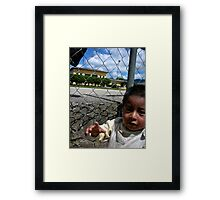 Oh Hey There, Let's play Framed Print