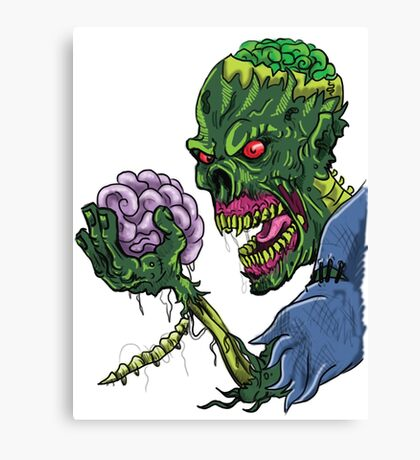 BRAINS!!! Canvas Print