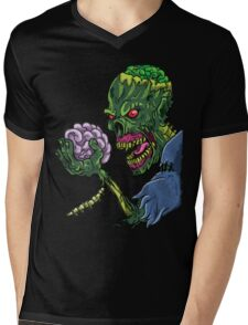 BRAINS!!! Mens V-Neck T-Shirt