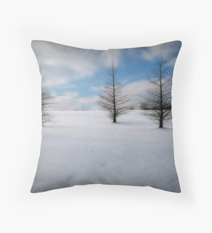 Starkness of Winter Throw Pillow