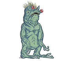 Crazy deformed mutant Troll Alien Photographic Print