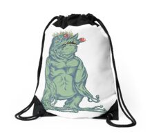Crazy deformed mutant Troll Alien Drawstring Bag