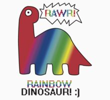 RAWR! Rainbow Dinosaur! by HelloDesigns