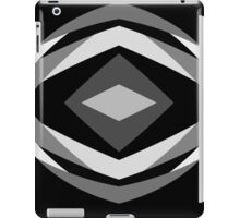 Black, White, and Gray iPad Case/Skin