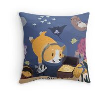 Diving For Treasure Throw Pillow