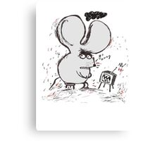 Moody Mouse Canvas Print