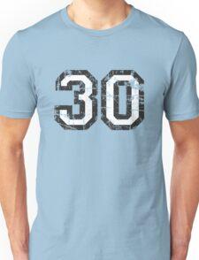 Number 30 Vintage 30th Birthday Anniversary Unisex T-Shirt