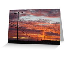 Day is Done Gone the Sun  Greeting Card