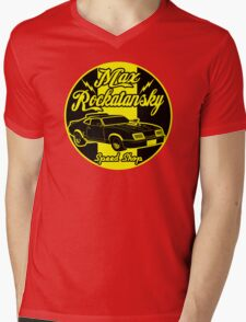 Rockatansky speed shop Mens V-Neck T-Shirt