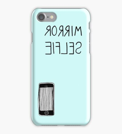 blue mirror selfie iPhone Case/Skin