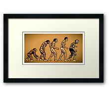 Zombie Evolution Framed Print