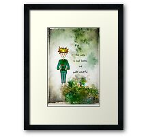 Ginkelmier Land ~ Ginkelmier and Frog ~ Mud luscious and Puddle Wonderful Framed Print